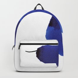 How to be a girl #8 -minimalist girl in bright blue ink Backpack