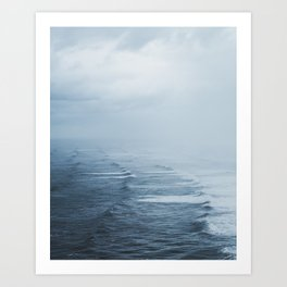 Storms over the Pacific Ocean Art Print