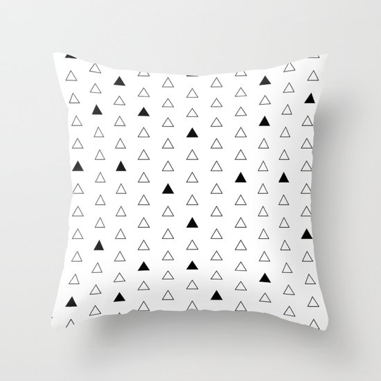 Little Triangles  Throw Pillow