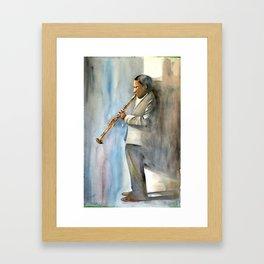 Musician Series I: Trane Framed Art Print