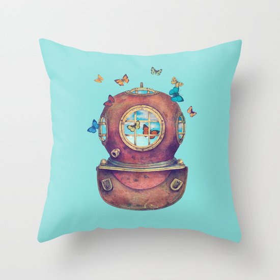 Inner Space - colour option Throw Pillow