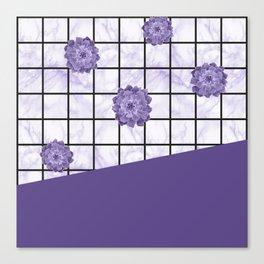 Succulents geometric composition - Ultra Violet Canvas Print