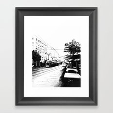 Jerusalem Light Rail Framed Art Print