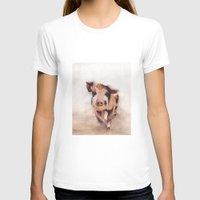 pig T-shirts featuring Pig by Bridget Davidson