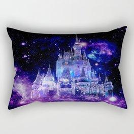 Celestial Palace : Purple Blue Enchanted Castle Rectangular Pillow