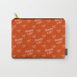 Motivational Happy Life Words Pattern Carry-All Pouch