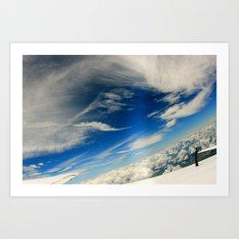 Skydive Cloud Art Print