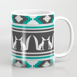 Ethnic pattern with foxes Coffee Mug