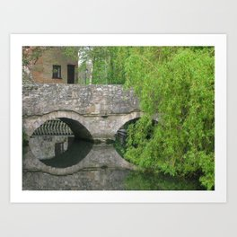 By the Old Mill Stream Art Print