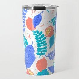 Lemons and Leaves Travel Mug