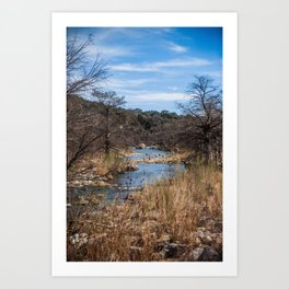 Texas Stream Art Print