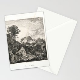 Landscapes of Ludwig Richter (1875) - Rocca di Mezzo Stationery Cards