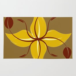 Autumn floral design Rug