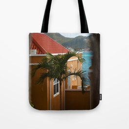 Palm Tree in the Breeze - Sint Maarten Tote Bag