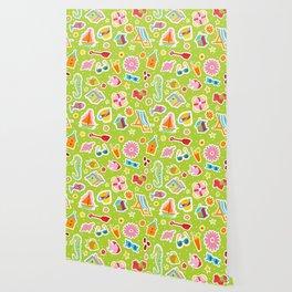 Summer Fun Green Wallpaper
