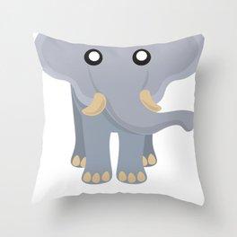 Cute Elephant Cartoon Throw Pillow