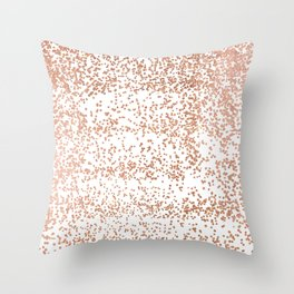 Elegant pink rose gold glam confetti Throw Pillow