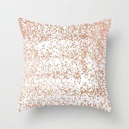 Elegant pink rose gold glam confetti Throw Pillow