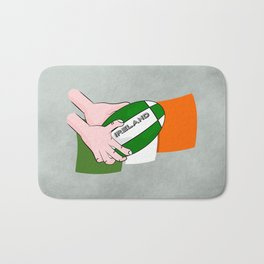 Rugby Ireland Flag Bath Mat