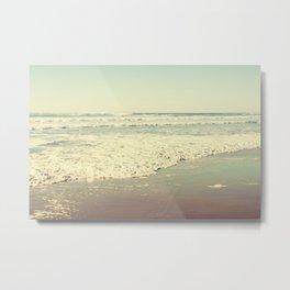 Oregon Beach Lomography Metal Print