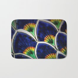 HAND PAINTED PEACOCK FEATHERS Bath Mat