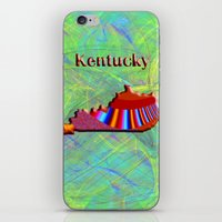 kentucky iPhone & iPod Skins featuring Kentucky Map by Roger Wedegis