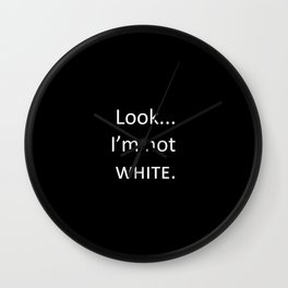 white: black Wall Clock