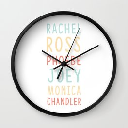 Friends TV Show Character Names Wall Clock