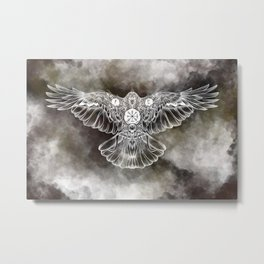 Raven of Fate (colore) Metal Print