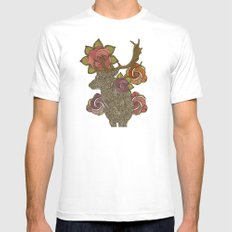 Dear deer SMALL Mens Fitted Tee White