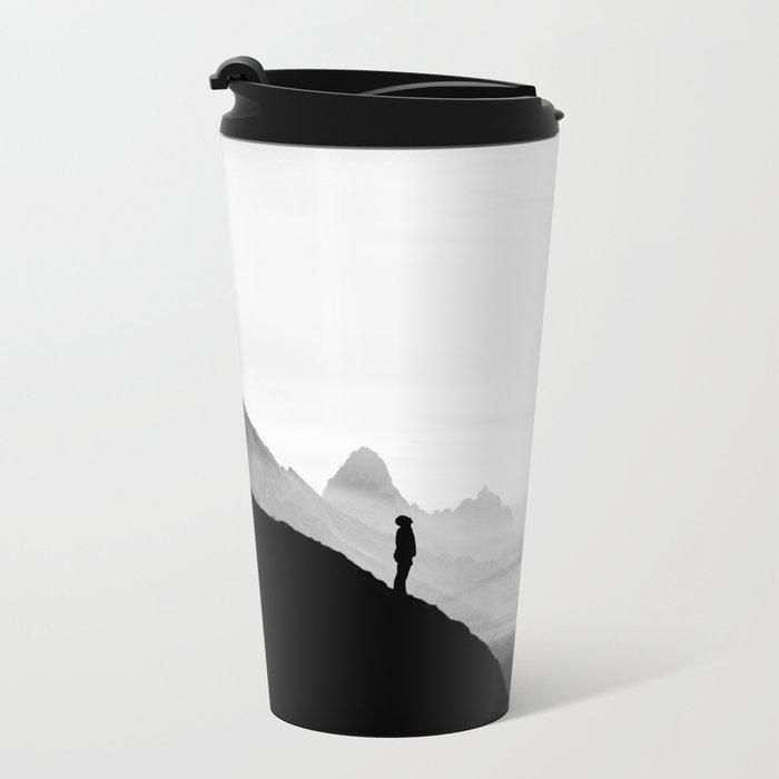 black wasteland isolation Metal Travel Mug