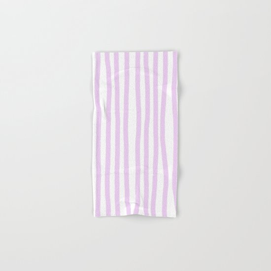 Lavender Stripes Hand & Bath Towel