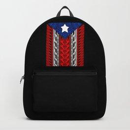 Puerto Rican Tribal Flag - Modern Boricua Backpack