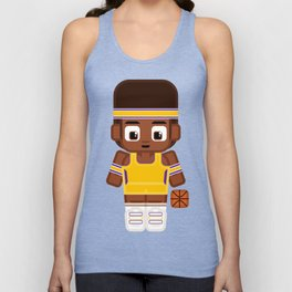 Basketball - Gold and Purple Unisex Tank Top