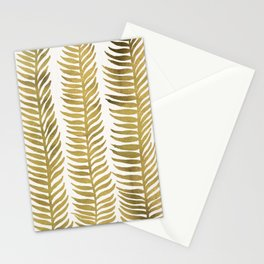 Golden Seaweed Stationery Cards