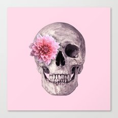 FLOWER SKULL Canvas Print