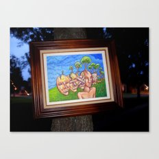 Trees Taking Root in the Human Head  Canvas Print