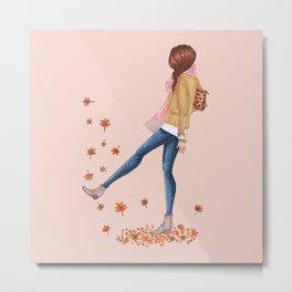 fall girl Metal Print