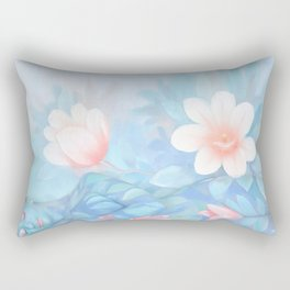 Blue Flowers Dream - Bodyart - Photography by Lana Chromium - beauty - woman - body - soul Rectangular Pillow