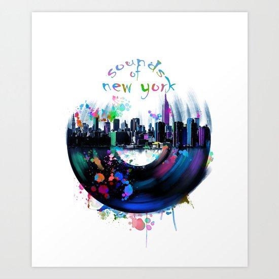 new york city music3 Art Print