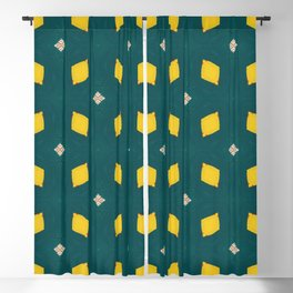 Playful Abstract Lemons Geometry Background Blackout Curtain