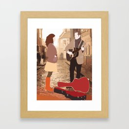 GUY AND GIRL – ONCE THE MUSICAL Framed Art Print