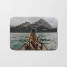 Canoeing in the Rocky Mountains Bath Mat