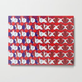 Awesome American to Canadian Flag Pattern! USA vs Canada. Metal Print