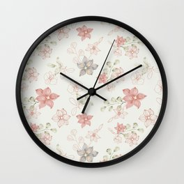 Orchidea pattern Wall Clock