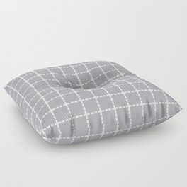 Dotted Grid Grey Floor Pillow
