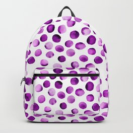 Watercolor Dots // Orchid Violet Backpack