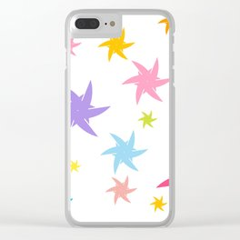 Colorful Stats Abstract Clear iPhone Case