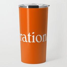 irrational woman Travel Mug