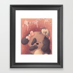 Mothers Day Pups Framed Art Print